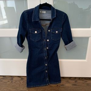 Zara Dresses - NWOT Zara Trafaluc Denim Long sleeve mini dress